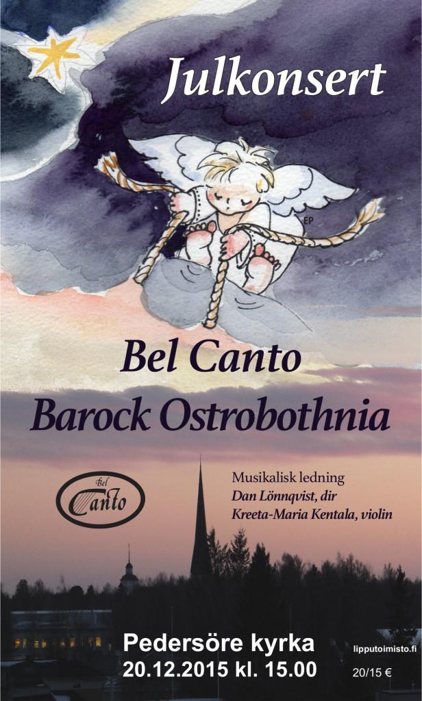 Bel Canto Julkonsert affisch 2015