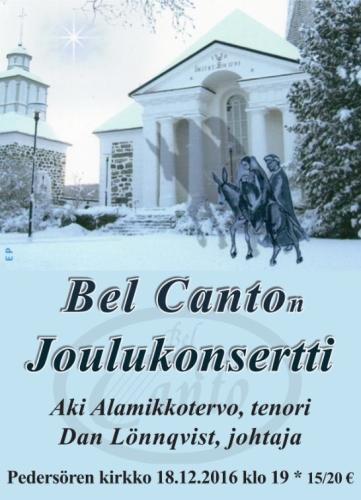 Bel Canto Joulukonsertti 2016