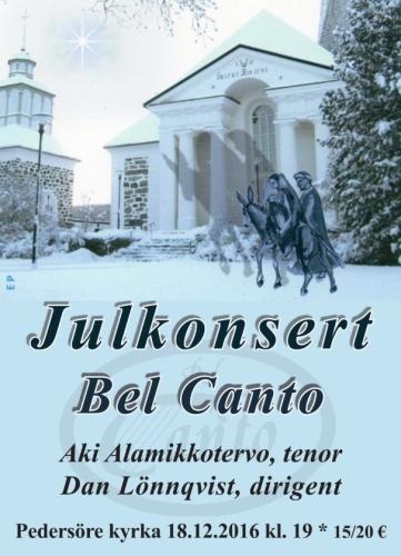 Bel Canto Julkonsert 2016