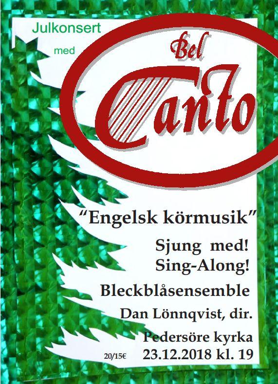 julkonsert 2018 Bel Canto